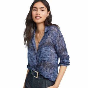 Anthropologie Cloth & Stone Lightweight Button Top